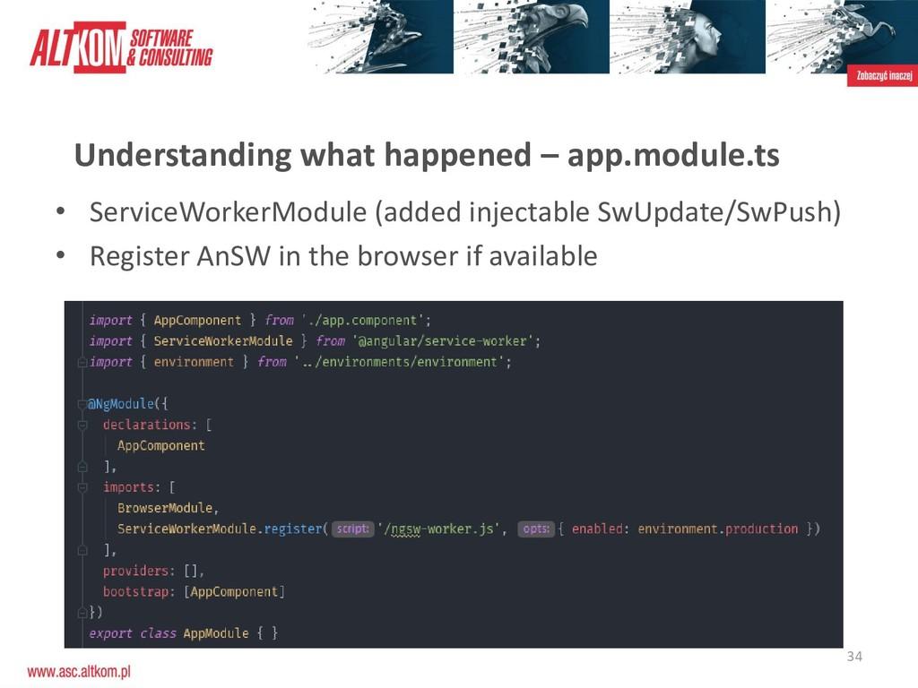 34 Understanding what happened – app.module.ts ...