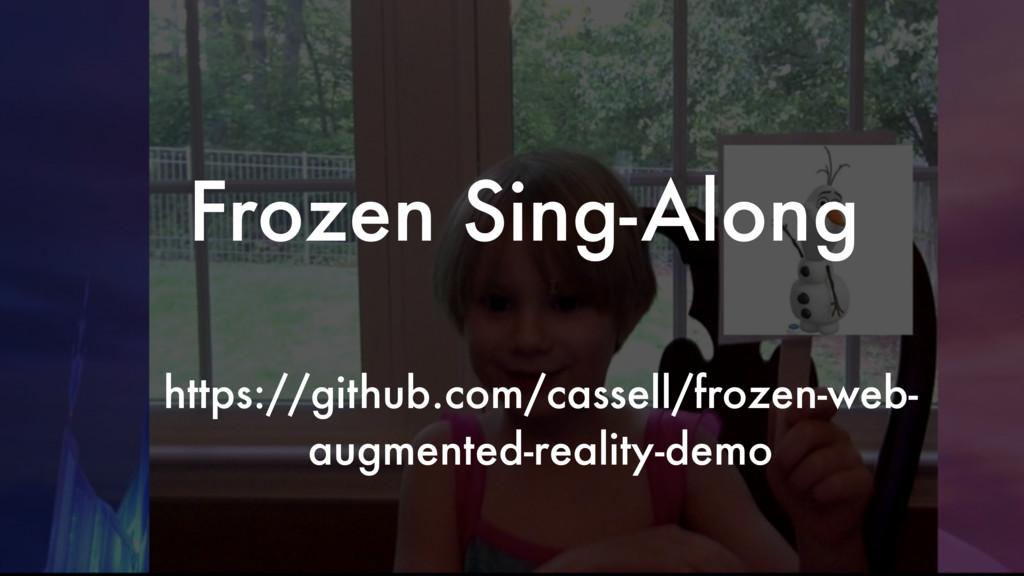 Frozen Sing-Along https://github.com/cassell/fr...