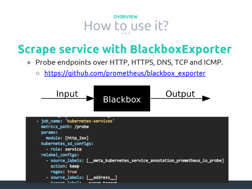 How to use it? OVERVIEW Scrape service with Bla...