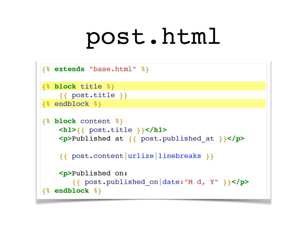 "{% extends ""base.html"" %}! ! {% block title %}!..."