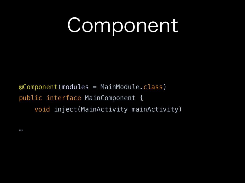$PNQPOFOU @Component(modules = MainModule.class...