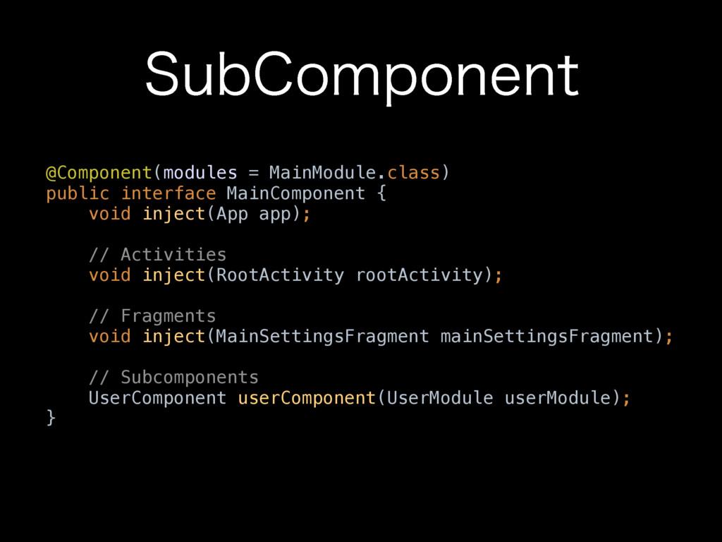 4VC$PNQPOFOU @Component(modules = MainModule.cl...