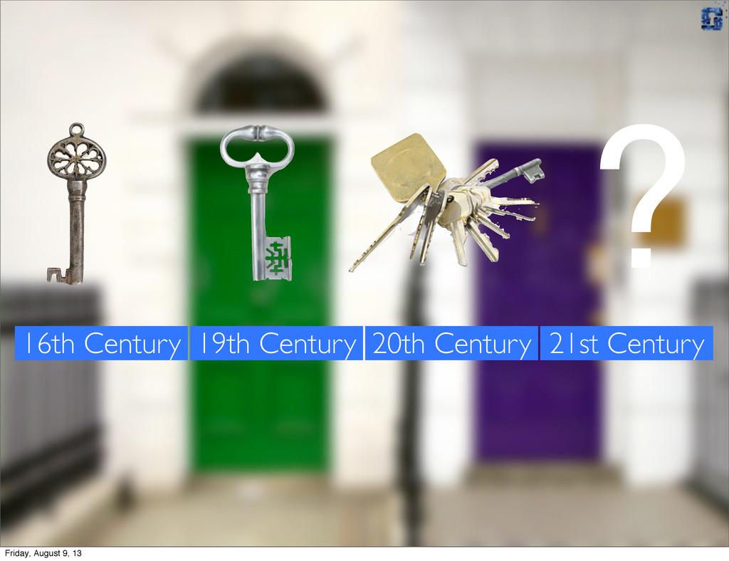 16th Century 19th Century 20th Century ? 21st C...