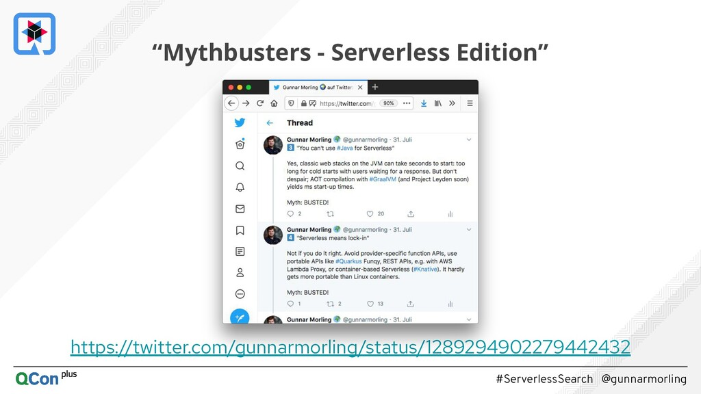 #ServerlessSearch @gunnarmorling https://twitte...
