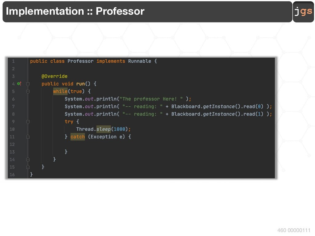 jgs 460 00000111 Implementation :: Professor
