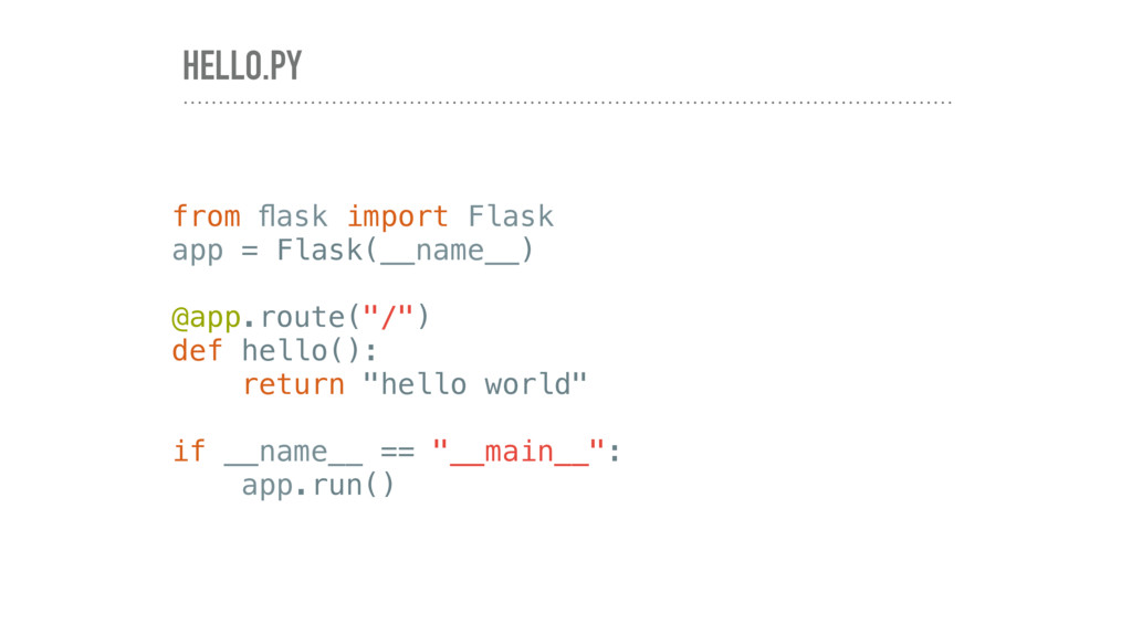HELLO.PY from flask import Flask app = Flask(__n...