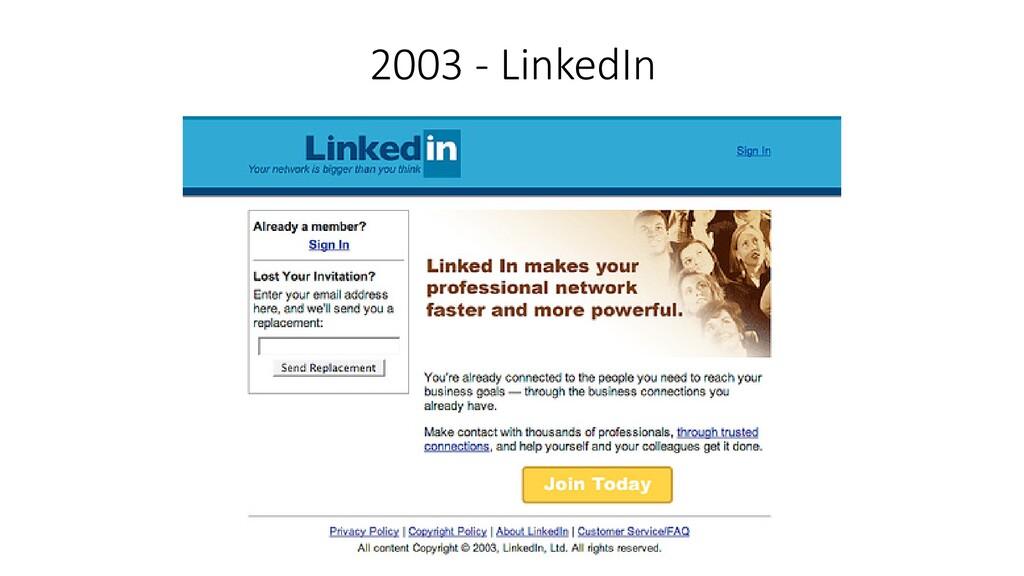 2003 - LinkedIn