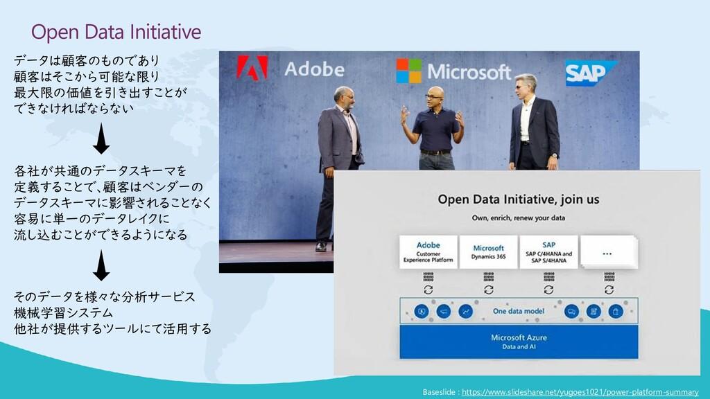 Open Data Initiative データは顧客のものであり 顧客はそこから可能な限り ...