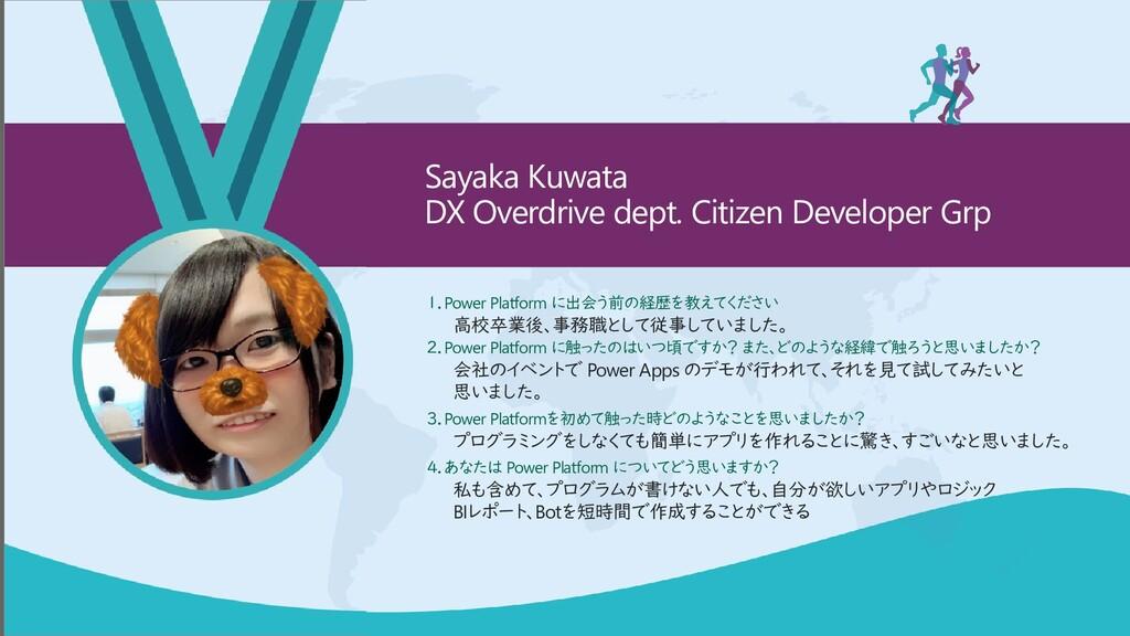 Sayaka Kuwata DX Overdrive dept. Citizen Develo...