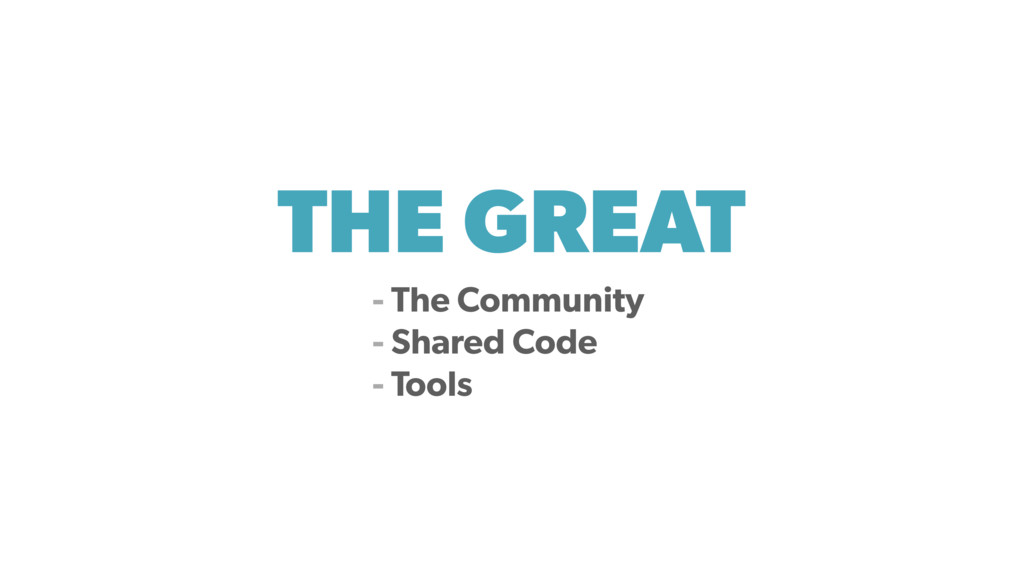 THE GREAT - The Community - Shared Code - Tools