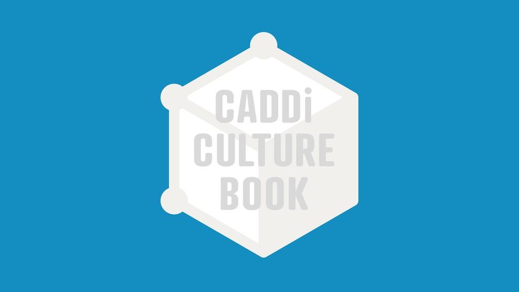 CADDi CULTURE BOOK