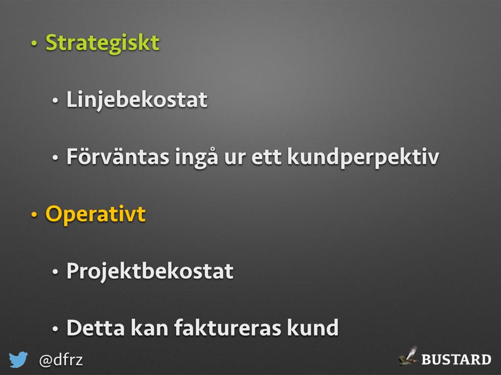 BUSTARD @dfrz • Strategiskt • Linjebekostat • F...