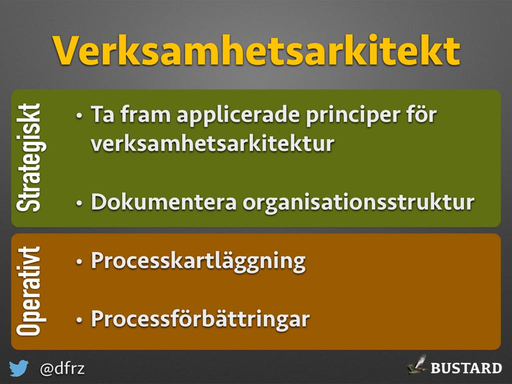 BUSTARD @dfrz Strategiskt Verksamhetsarkitekt O...