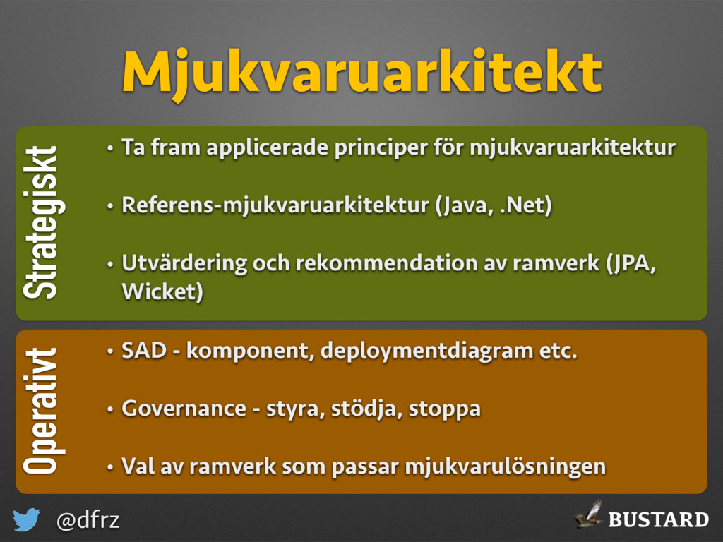 BUSTARD @dfrz Strategiskt Mjukvaruarkitekt Oper...