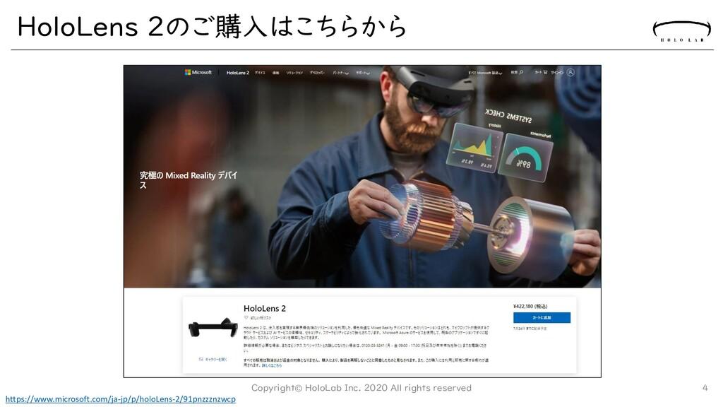 HoloLens 2のご購入はこちらから Copyright© HoloLab Inc. 20...