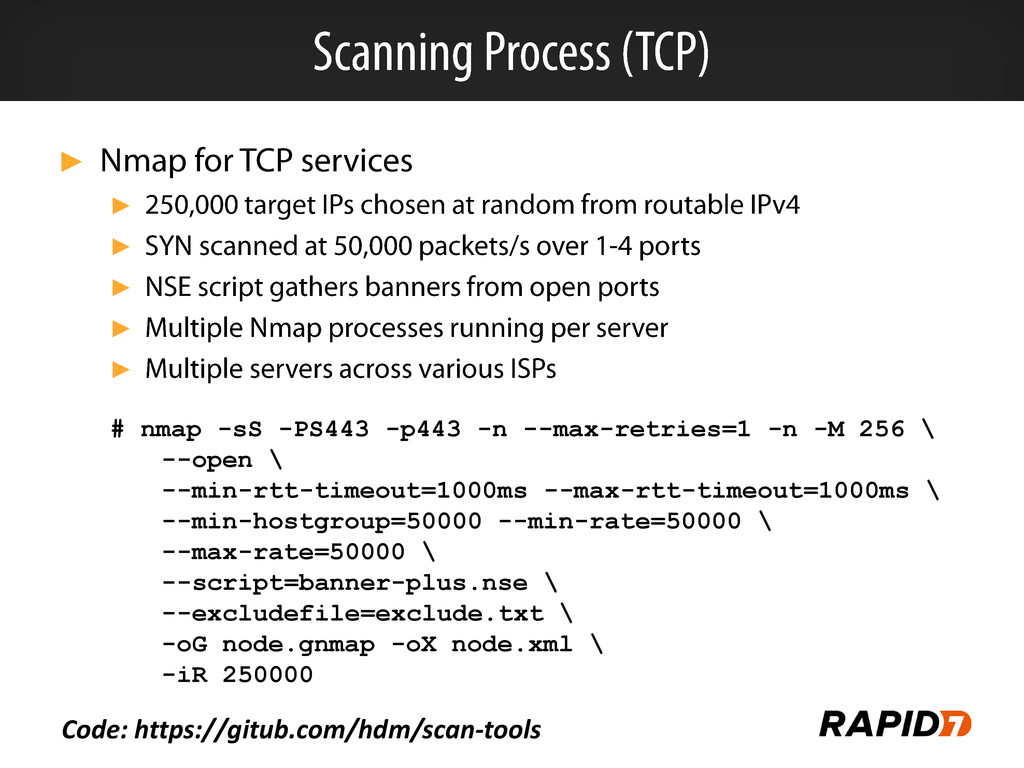 ► ► ► ► ► ► # nmap -sS -PS443 -p443 -n --max-re...