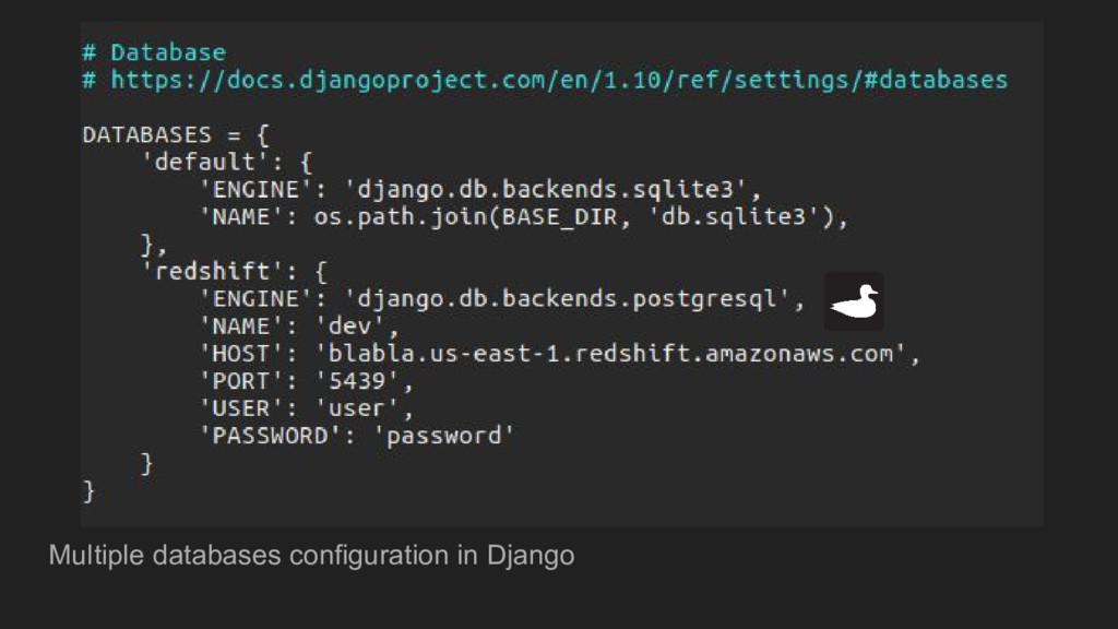 Multiple databases configuration in Django