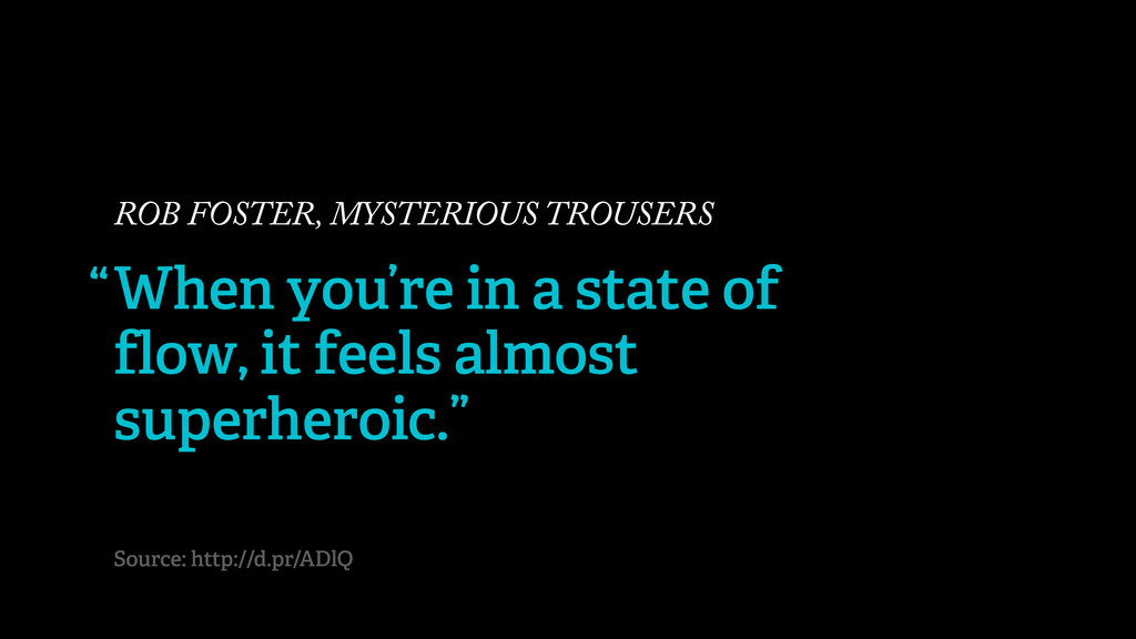 ROB FOSTER, MYSTERIOUS TROUSERS When you're in ...