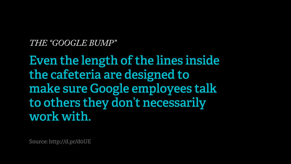 """THE """"GOOGLE BUMP"""" Even the length of the lines ..."""