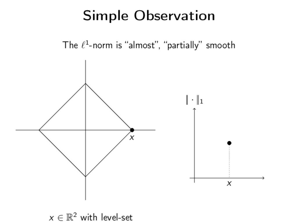 "Simple Observation The 1-norm is ""almost"", ""par..."