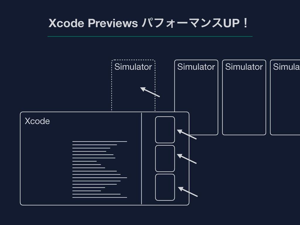 Xcode Previews ύϑΥʔϚϯεUPʂ Xcode Simulator Simul...