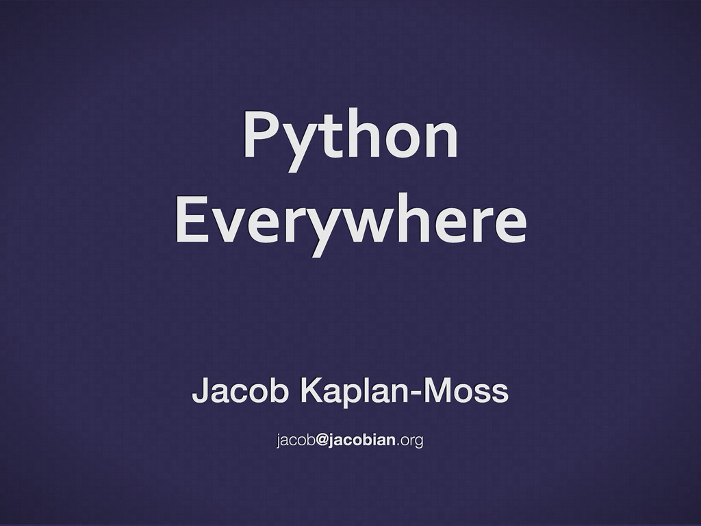 Python	