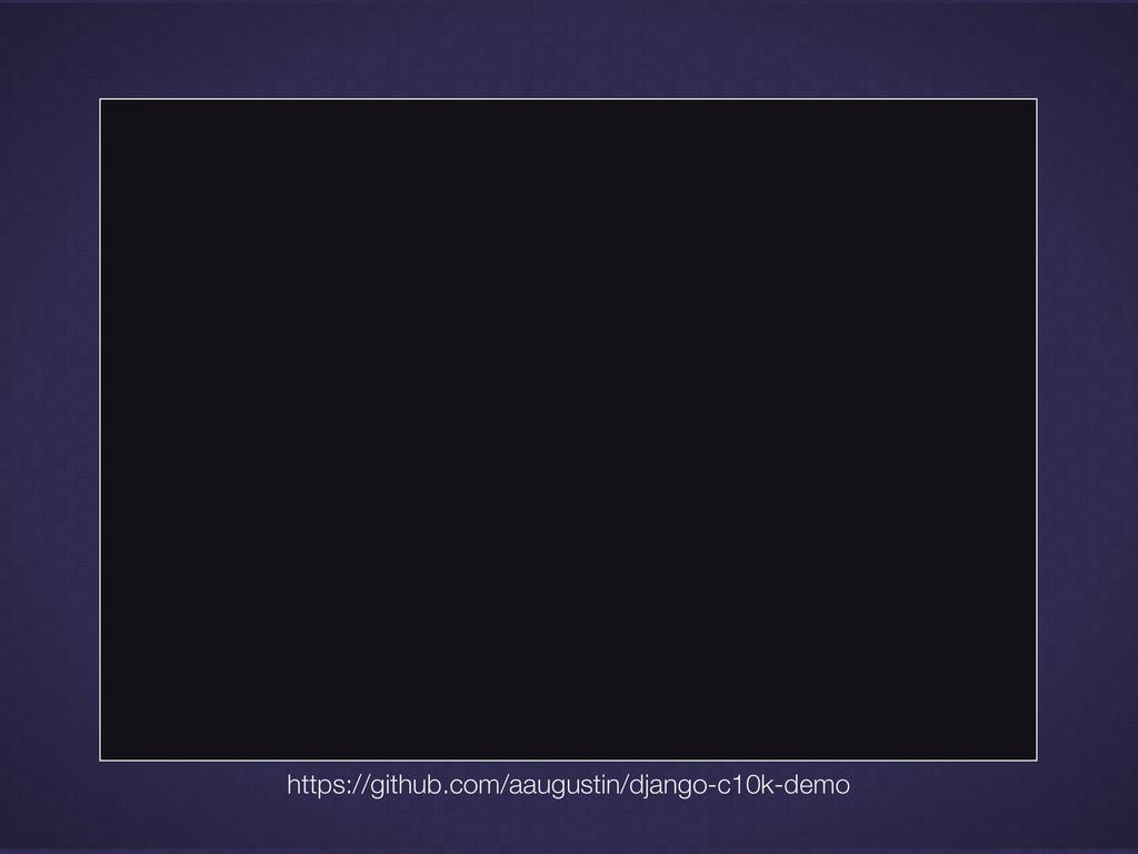 https://github.com/aaugustin/django-c10k-demo
