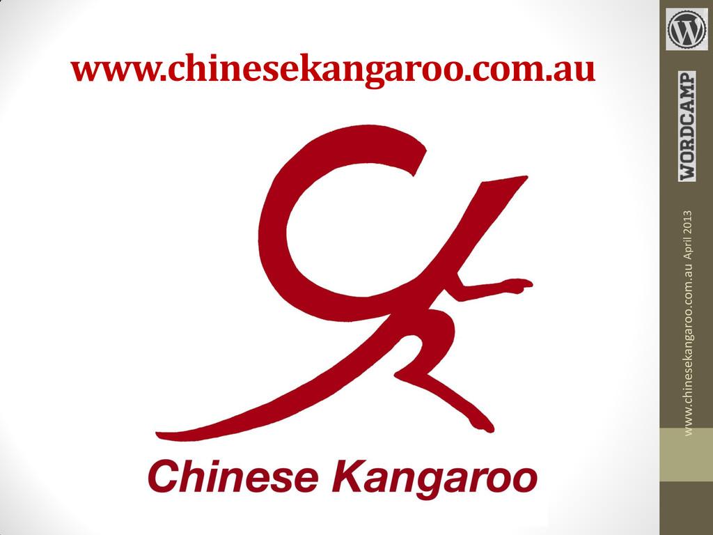 www.chinesekangaroo.com.au www.chinesekangaroo....