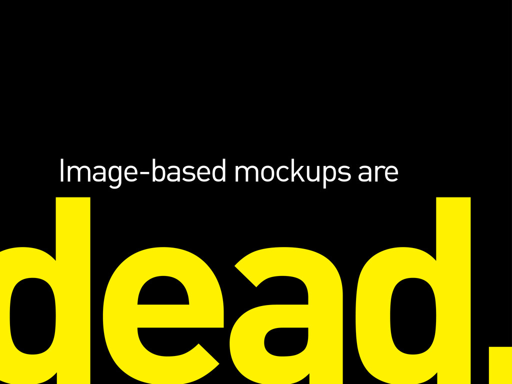 Image-based mockups are