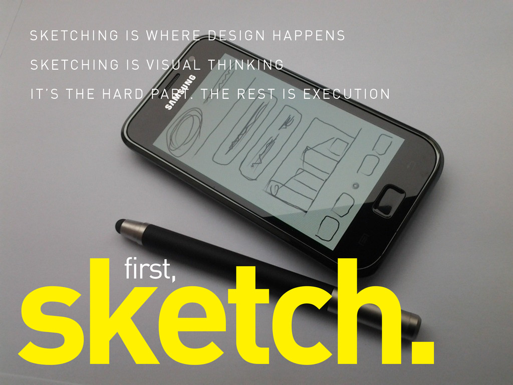 sketch. first, SKETCHING IS WHERE DESIGN HAPPEN...