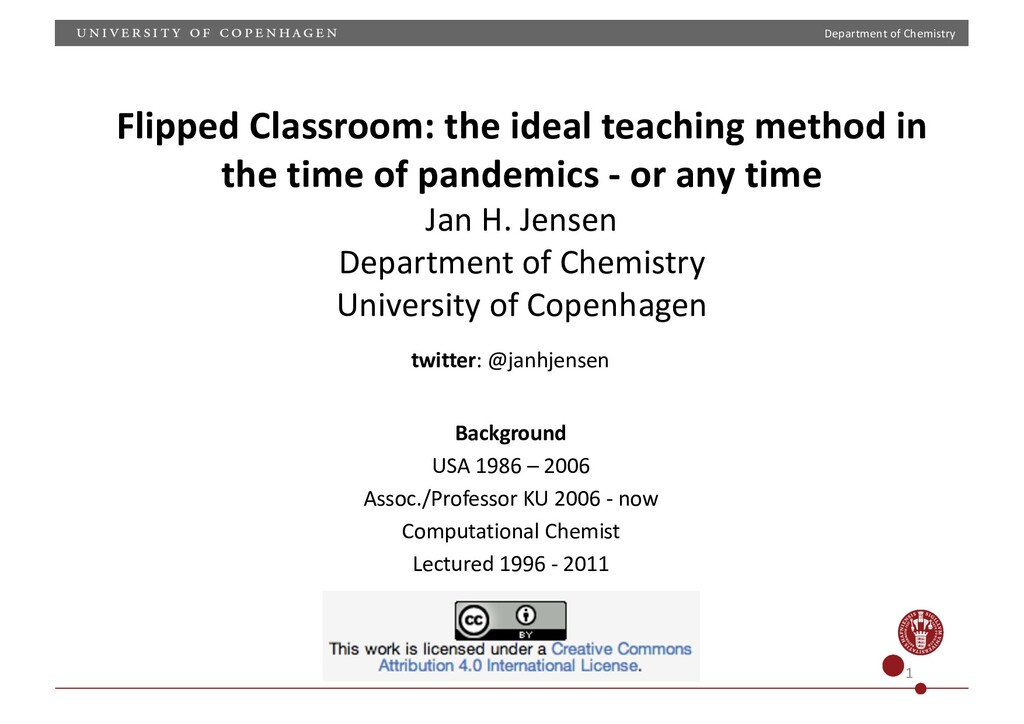 Department of Chemistry 1 Flipped Classroom: th...