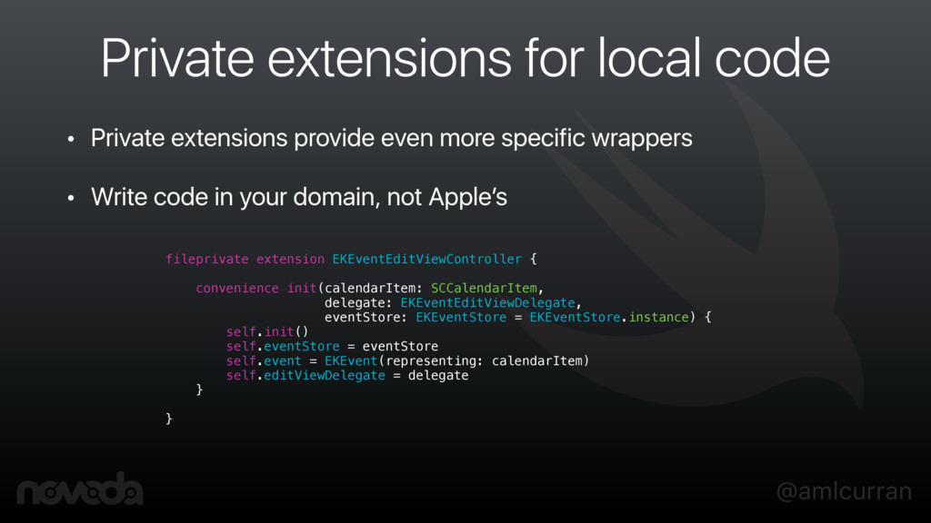@amlcurran Private extensions for local code • ...
