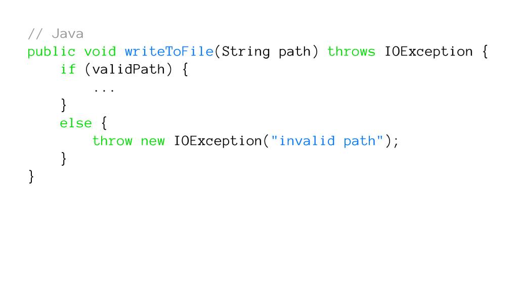 // Java public void writeToFile(String path) th...
