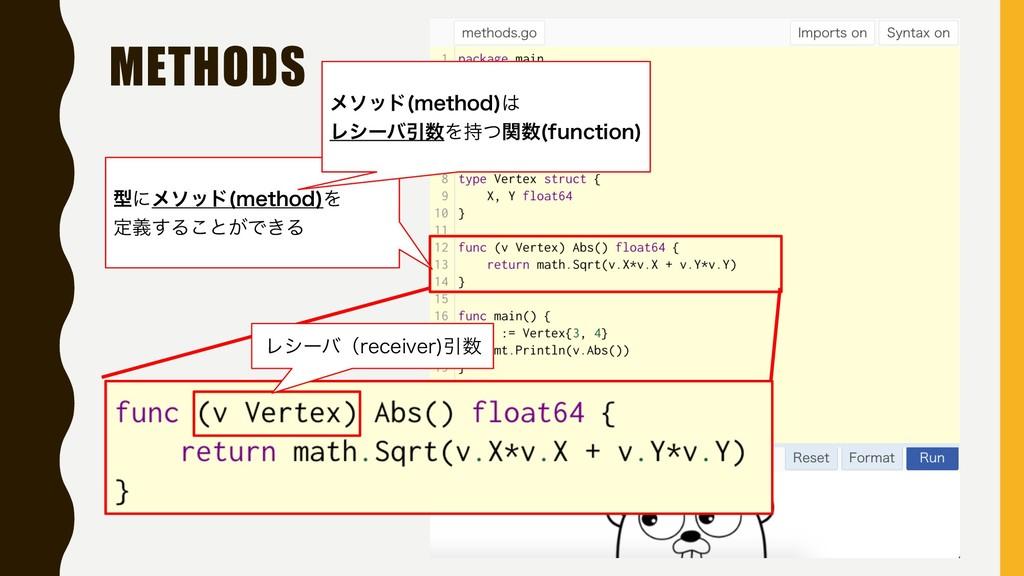 METHODS ϨγʔόʢSFDFJWFS Ҿ ܕʹϝιου NFUIPE Λ ఆٛ͢Δ͜...