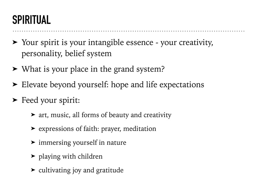 SPIRITUAL ➤ Your spirit is your intangible esse...