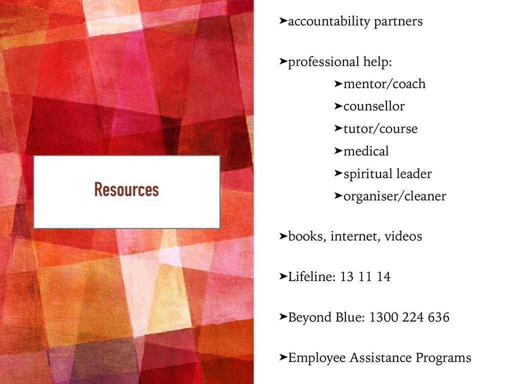 ➤accountability partners ➤professional help: ➤m...