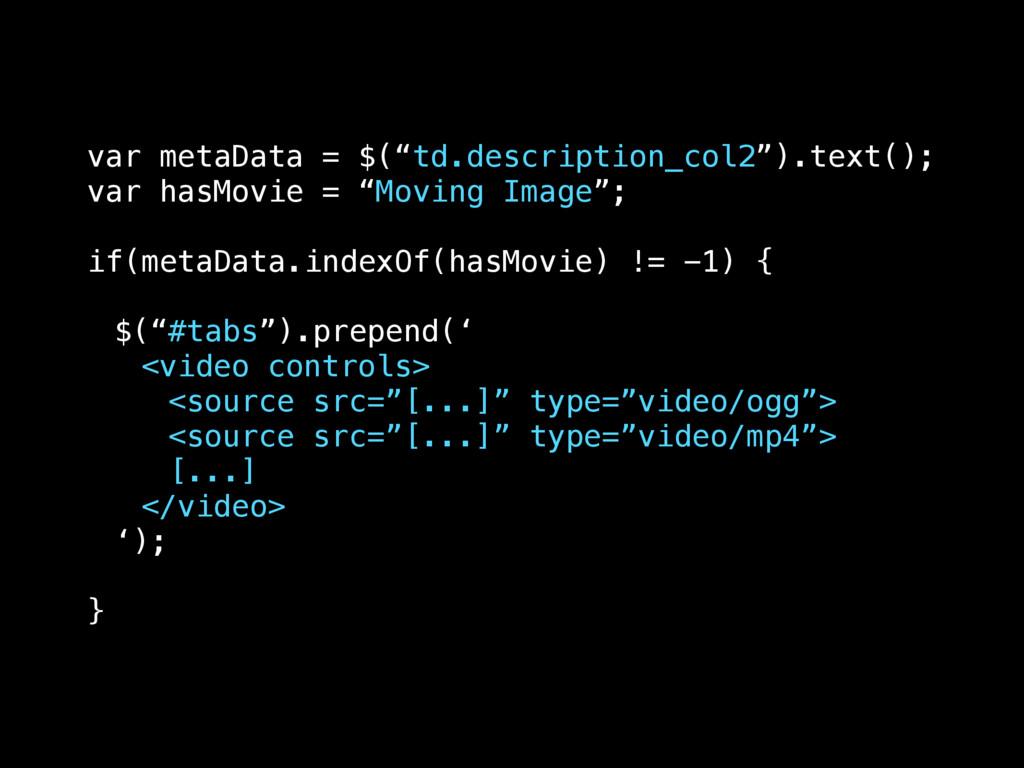 "var metaData = $(""td.description_col2"").text();..."