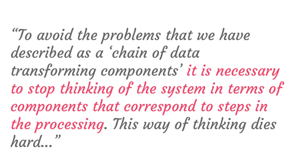 """""""To avoid the problems that we have described a..."""