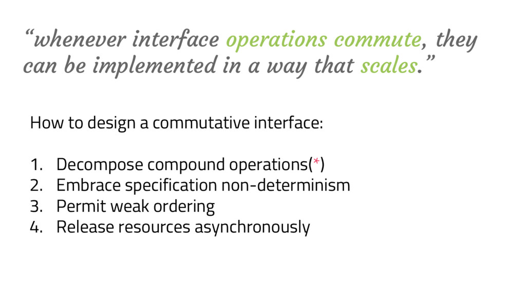 """""""whenever interface operations commute, they ca..."""