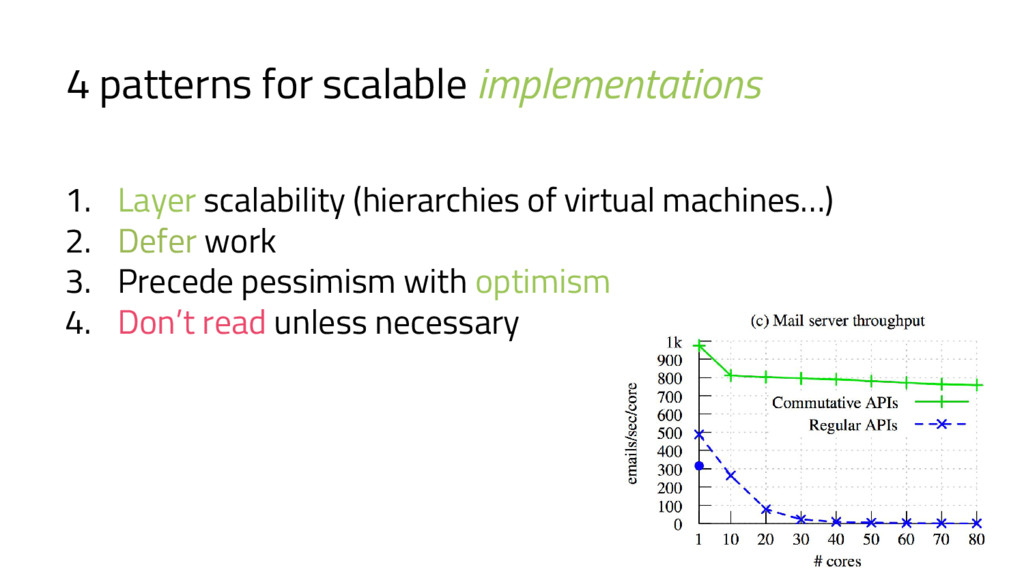 4 patterns for scalable implementations 1. Laye...