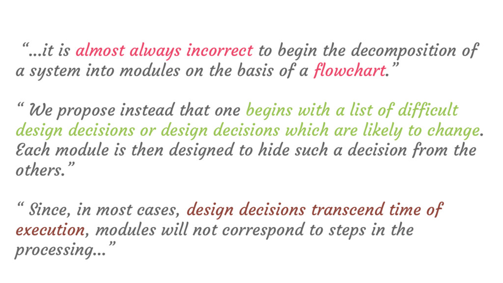 """""""...it is almost always incorrect to begin the ..."""