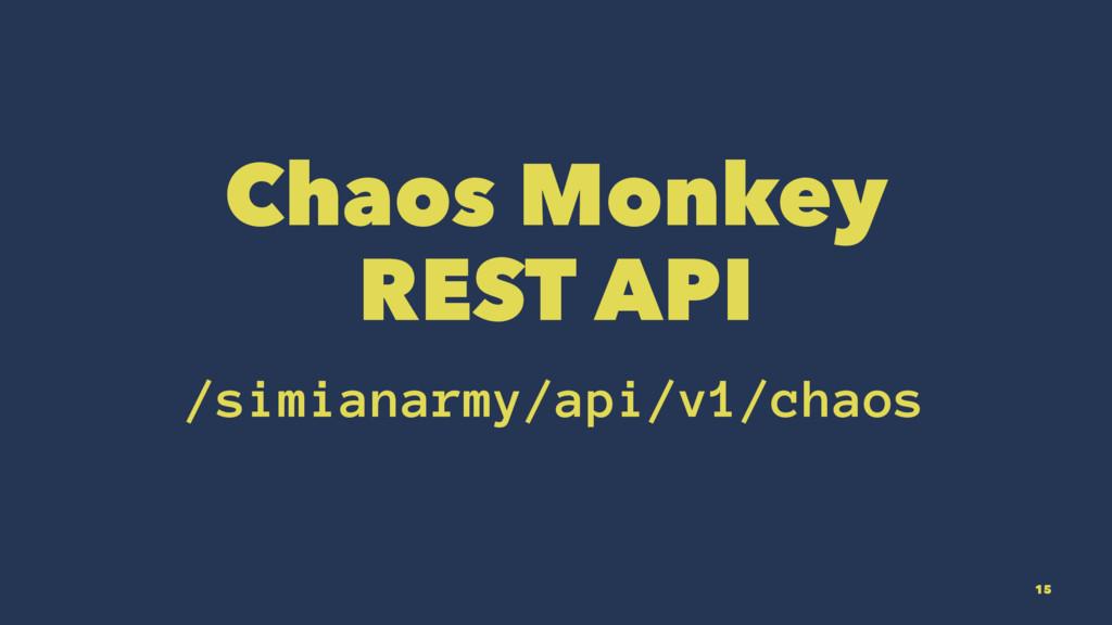 Chaos Monkey REST API /simianarmy/api/v1/chaos ...