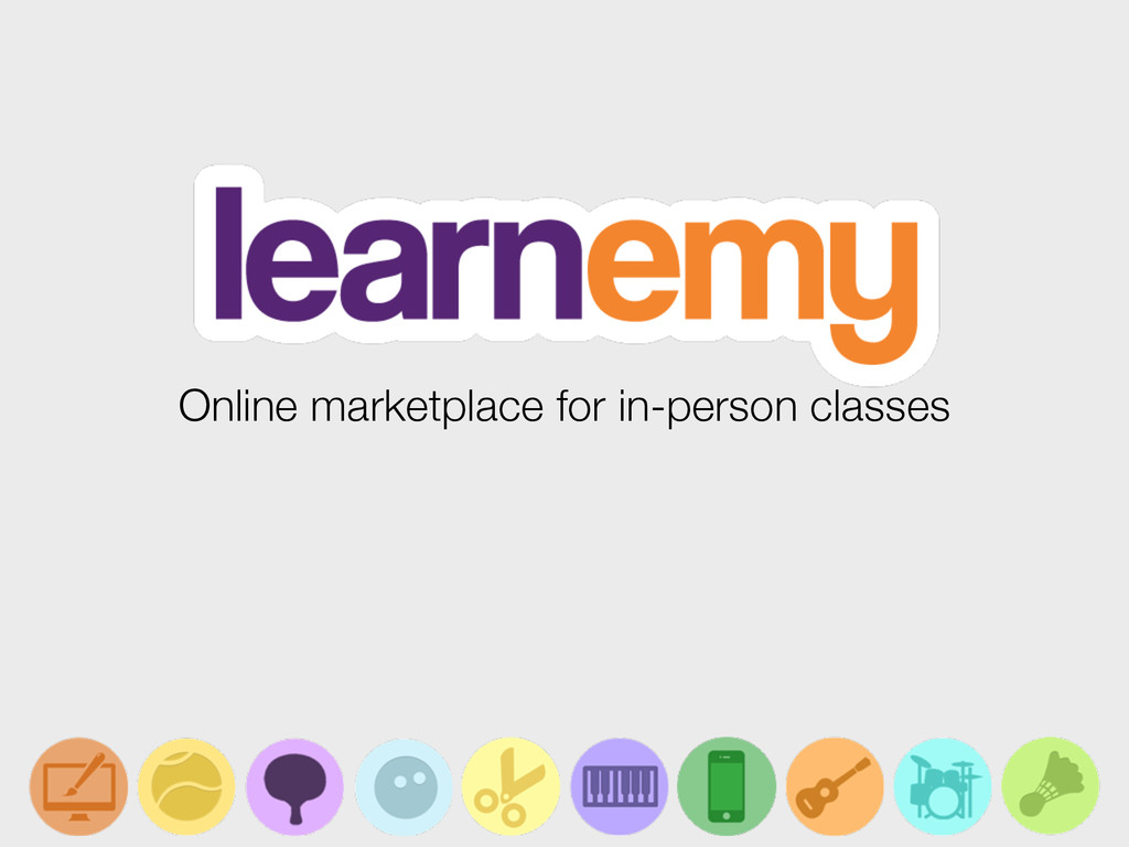 Online marketplace for in-person classes
