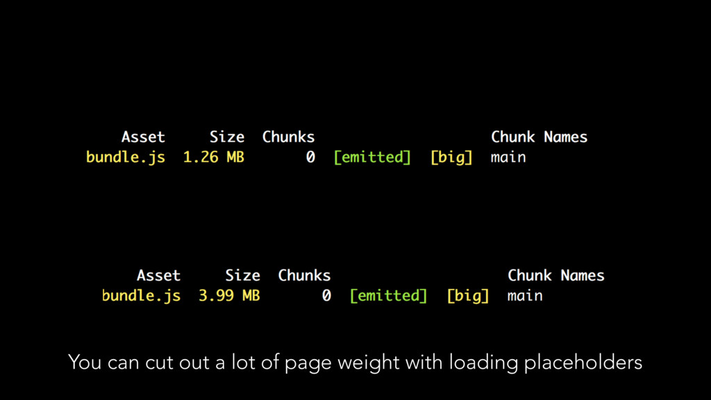 You can cut out a lot of page weight with loadi...