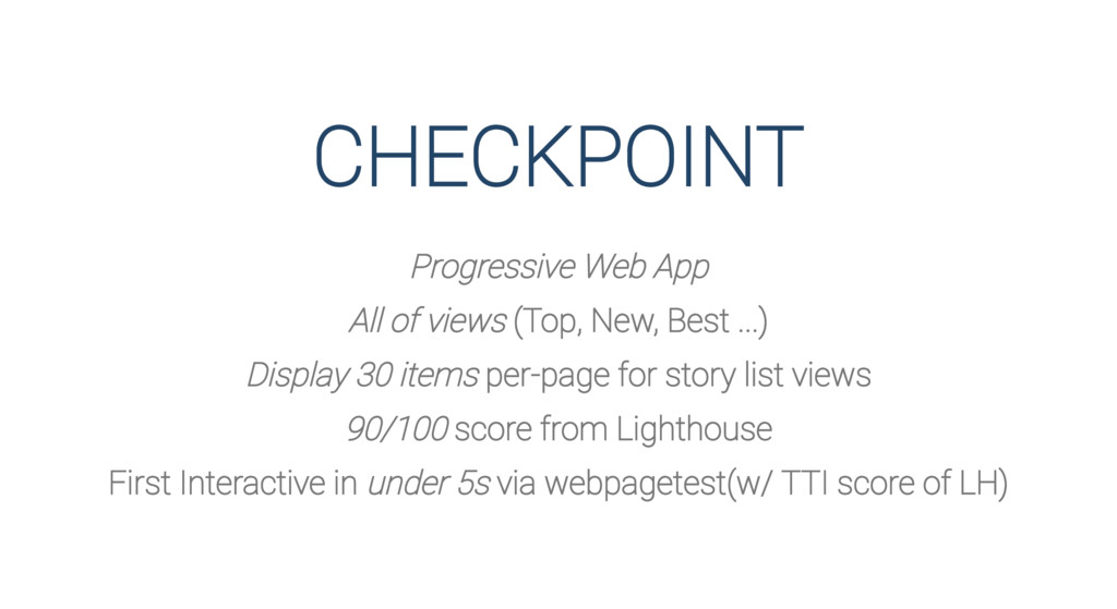 CHECKPOINT Progressive Web App All of views (To...