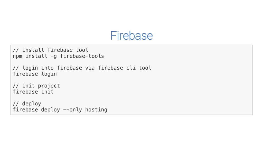 Firebase / / i n s t a l l f i r e b a s e t o ...