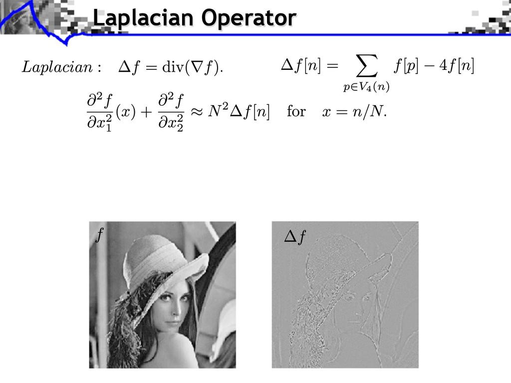 Laplacian Operator