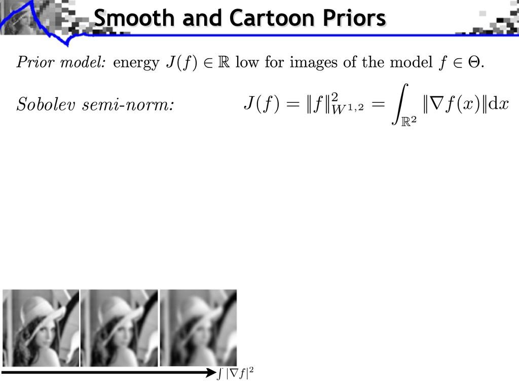 J ( f ) = || f ||2 W 1,2 = Z R2 ||r f ( x )||d ...