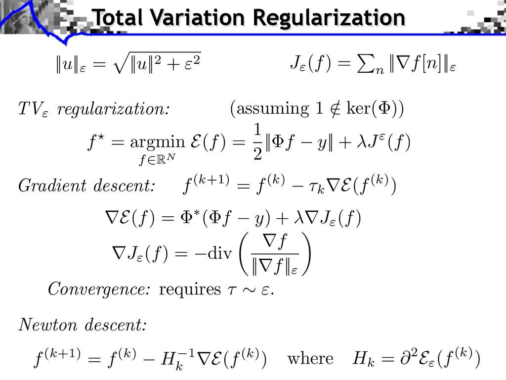 """TV"""" regularization: (assuming 1 / 2 ker( )) f(k..."""