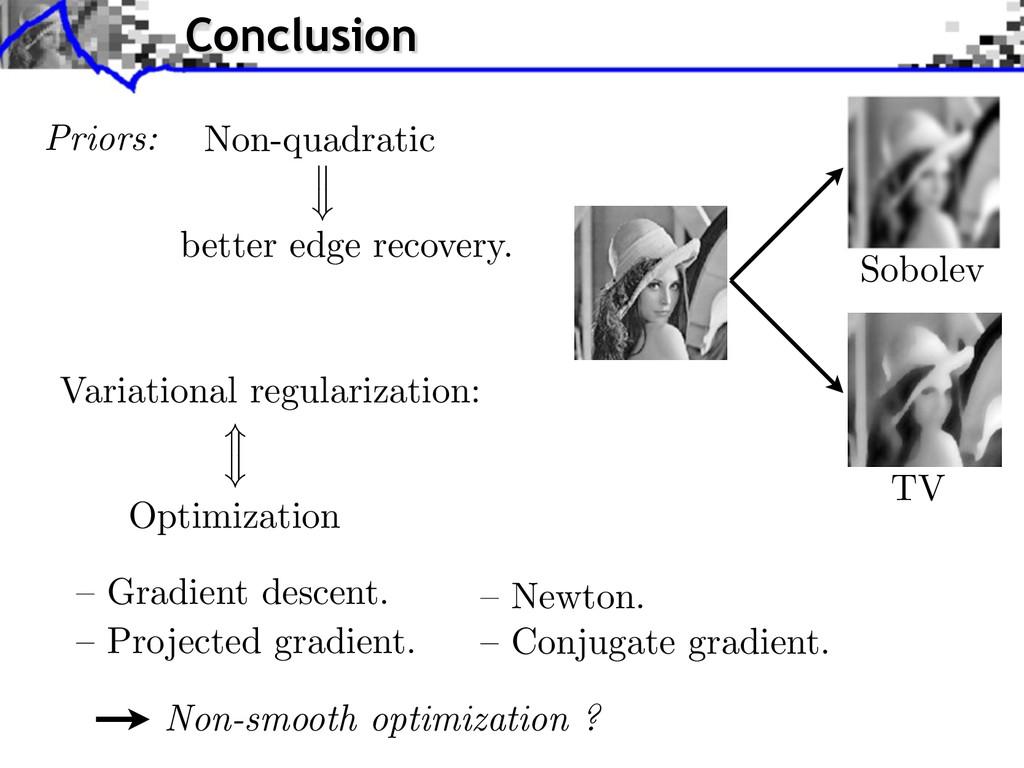 TV Priors: Non-quadratic better edge recovery. ...